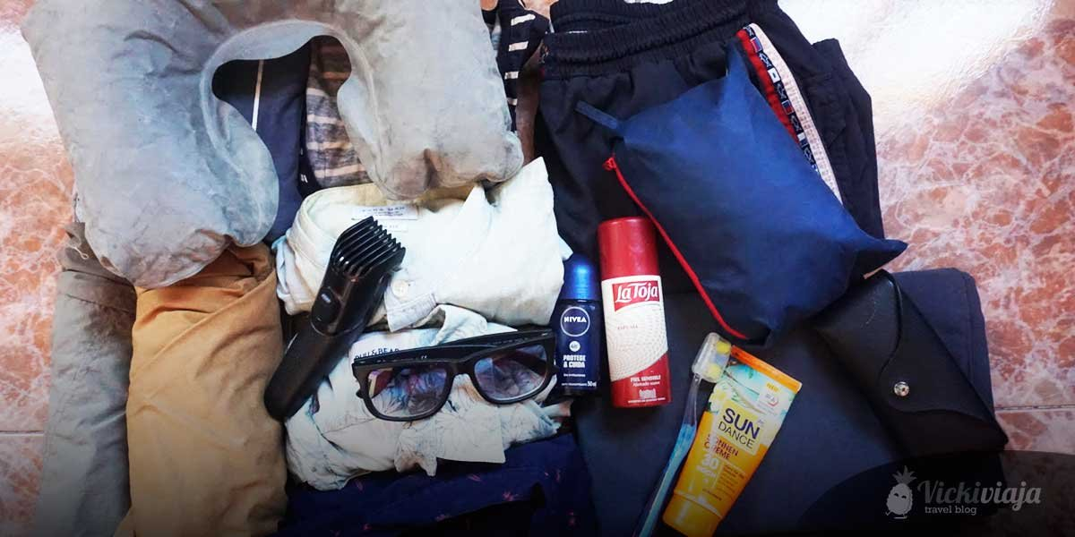 Ultimative Backpacker Packliste für Südostasien für Männer, Sonnenbrille, Sonnencreme, Klamotten
