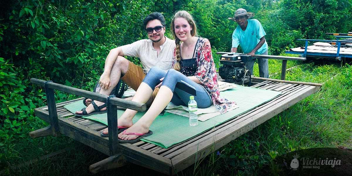 Bamboo Train in Battambang, Top things to do in Battambang, couple