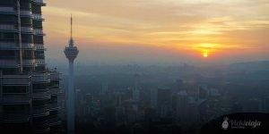 Saving Money in Malaysia, Sunset from Petronas Towers, Kuala Lumpur