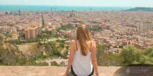 Barcelona itinerary, view over Barcelona, Panorama, Barcelona in 3 days