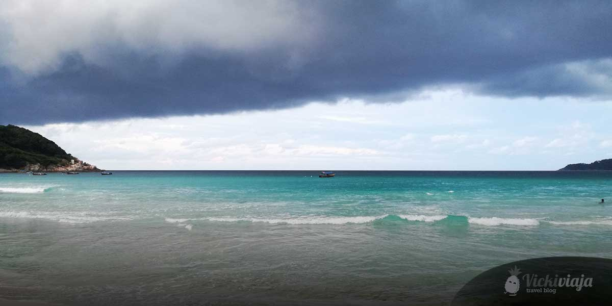 Benefits of traveling Southeast Asia during rainy season, beach, clouds