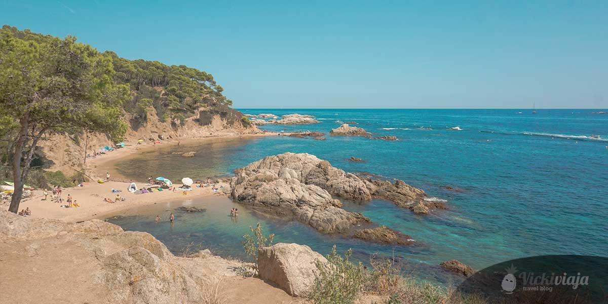Costa Brava Strände, Cala Estreta & Platja de Castell in Palamos, Spanien