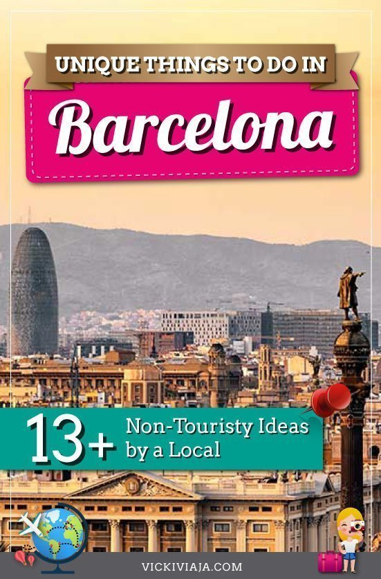 Unique things to do in Barcelona pin