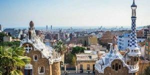 Barcelona, Park Güell, Ausblick, Gaudí