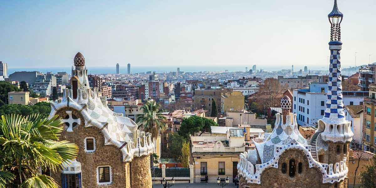 Barcelona in a day itinerary, Park Güell, view, One day in Barcelona