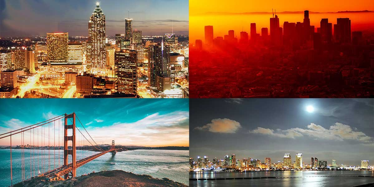 Most popular Cities in the US, Most visitors