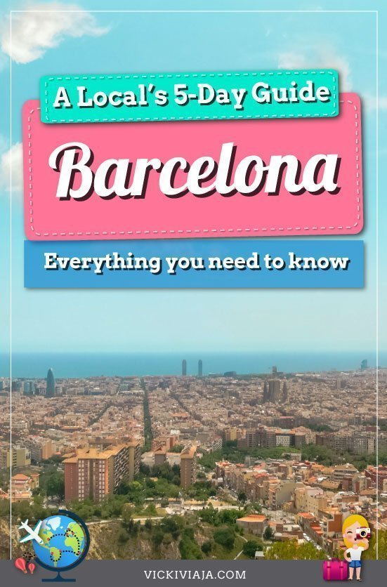 5 days in Barcelona pin
