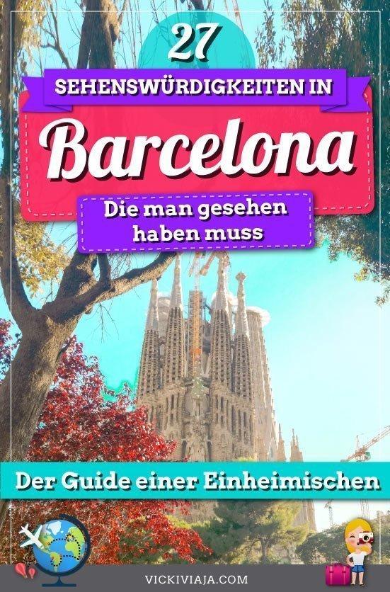 Barcelona Sehenswürdigkeiten pin