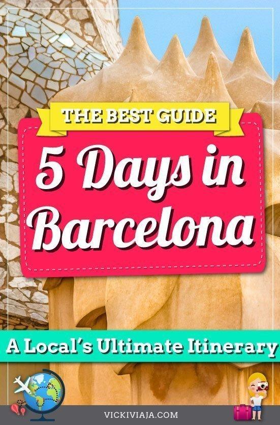 Barcelona 5 days itinerary pin