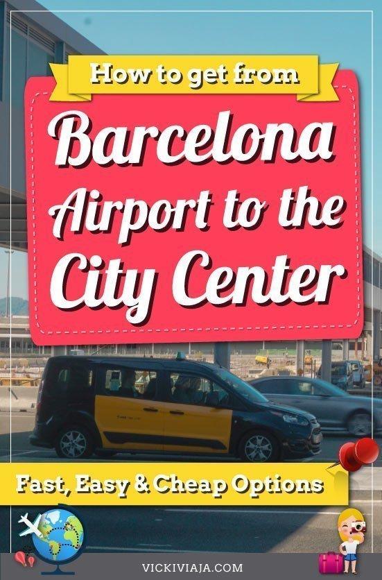 Barcelona airport transfer pin