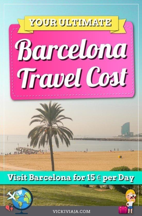 Barcelona travel cost pin