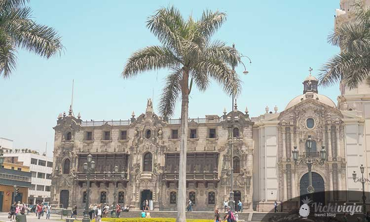 The Palace of the Archbishop in Lima