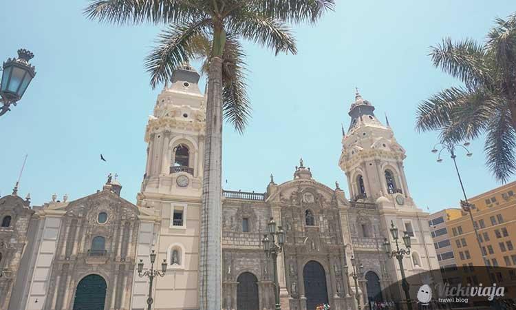 Lima Catedral, Lima Cathedral in La plaza de armas