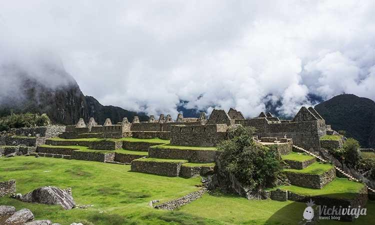Ruins in the lost citadell of Machu Picchu, Peru