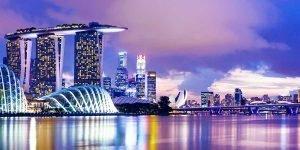 donde alojarse en Singapur, skyline por la noche