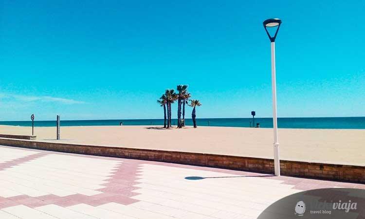Calafell beach boardwalk