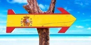 Auswandern nach Spanien Schild