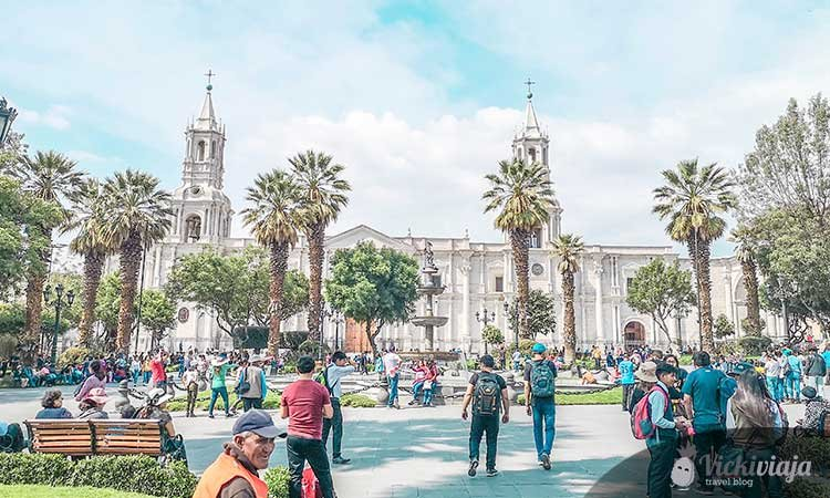 The cathedral of Arequipa, Peru