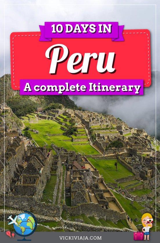 Peru itinerary 10 days pin