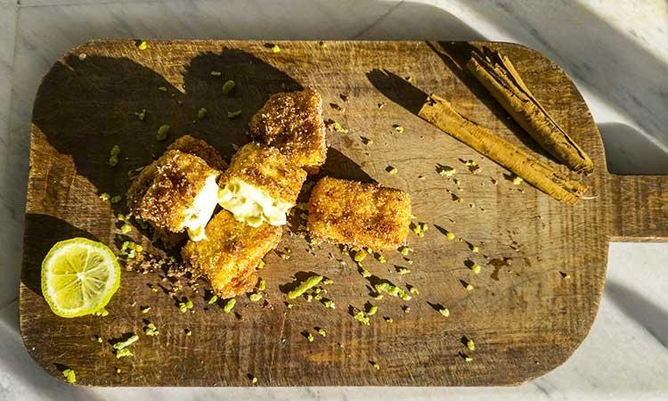 Leche Frita, fried milk in Spain, dessert
