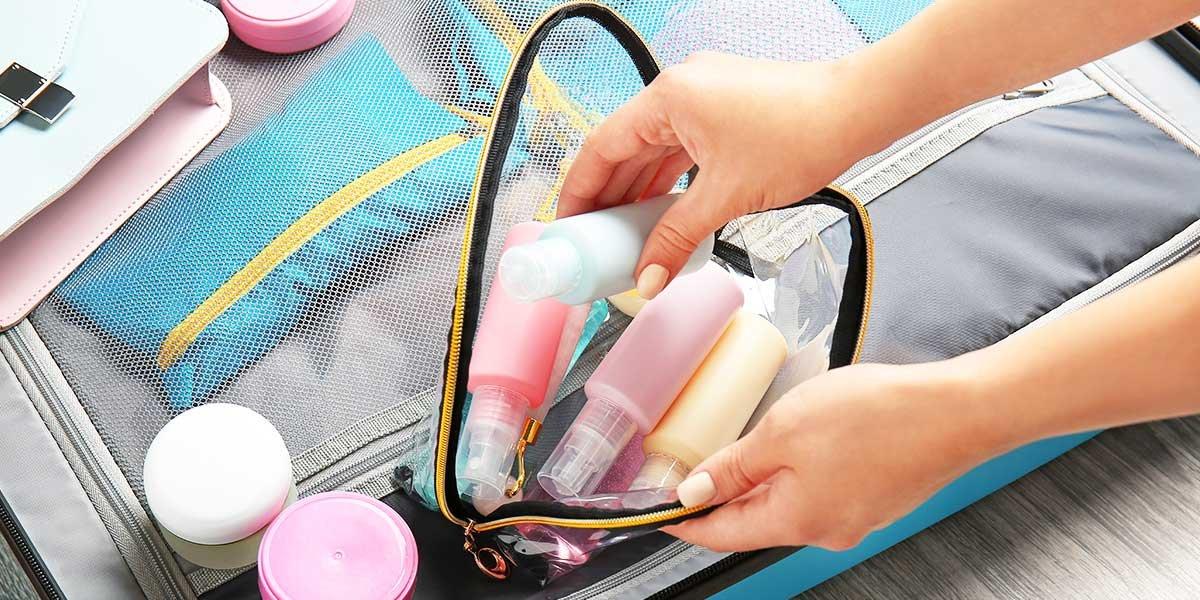 Shampoo im Koffer mitnehmen