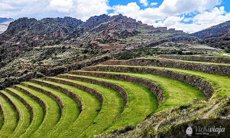Pisac, lush fields, Sacred valley of the inca
