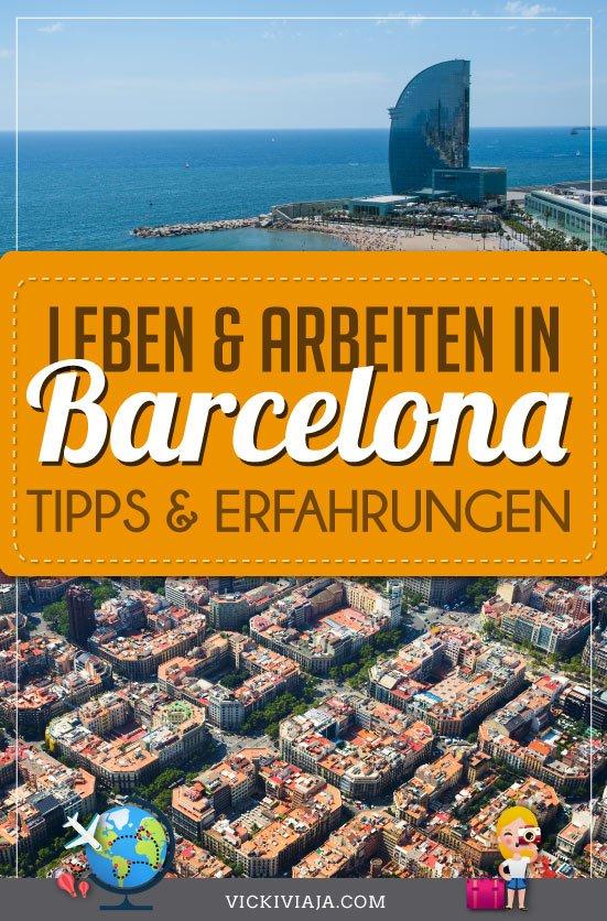 Leben in Barcelona pin