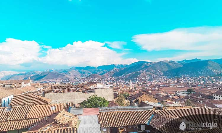 Cusco Peru from above, roofs