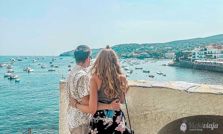 Ausblick über Cadaqués, Cap de Creus, Katalonien