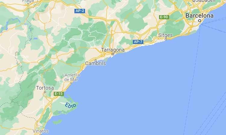 Costa Daurada Map