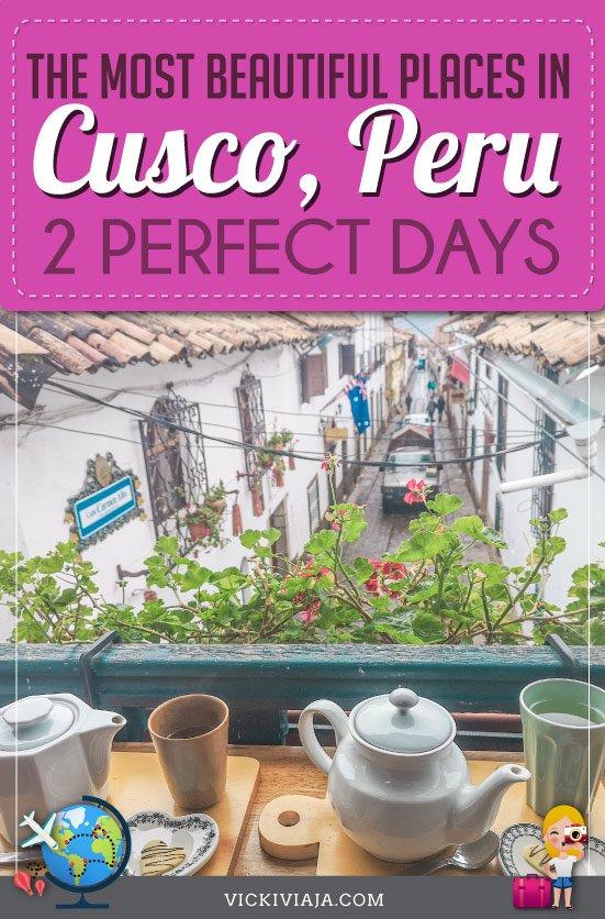 Cusco itinerary pin
