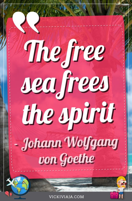 inspiring sea quotes Goethe