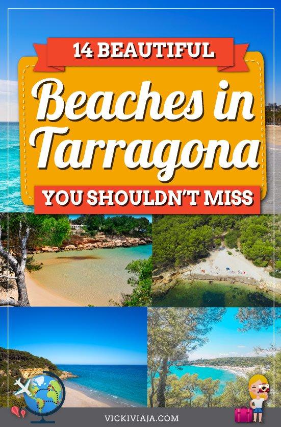 Tarragona beaches pin