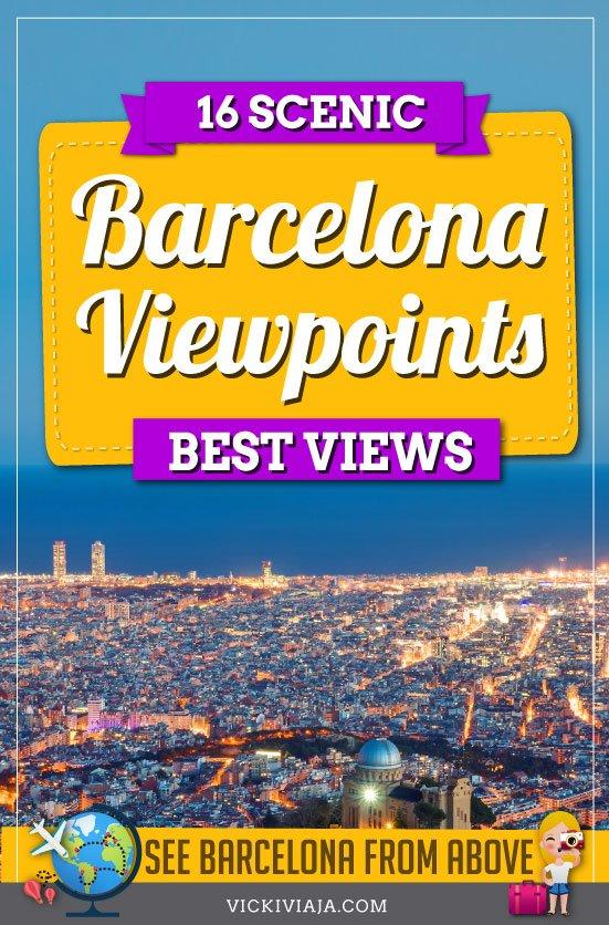 Barcelona viewpoints pin